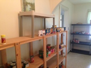 food pantry empty shelf