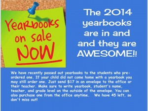 2014 Yearbooks on sale now